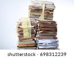 a pack of old office papers for ... | Shutterstock . vector #698312239