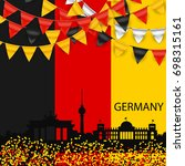 germany skyline silhouette... | Shutterstock .eps vector #698315161