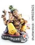 Small photo of lord ganesh in white background