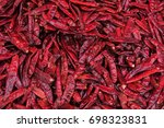 dried chili spicy  | Shutterstock . vector #698323831