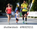 Small photo of PHUKET, THAILAND - JUNE 03: Unidentified young athletes the Kids' Run at the Laguna Phuket International marathon at Laguna on June 03, 2017 in Phuket, Thailand.