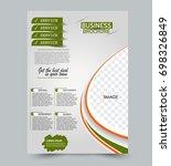 green and orange flyer vector... | Shutterstock .eps vector #698326849