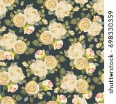 seamless floral pattern with...   Shutterstock .eps vector #698330359