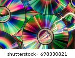 Background Of Cds Or Dvds With...