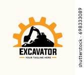 excavator and backhoe logo... | Shutterstock .eps vector #698333089