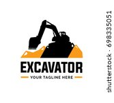 excavator and backhoe logo... | Shutterstock .eps vector #698335051
