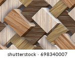 abstract home decorative 3d oil ... | Shutterstock . vector #698340007
