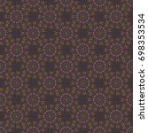 seamless pattern with geometric ... | Shutterstock .eps vector #698353534