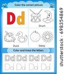 alphabet learning letters  ... | Shutterstock . vector #698354869