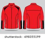 red jacket design for template | Shutterstock .eps vector #698355199