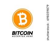 golden bitcoin digital currency ... | Shutterstock .eps vector #698359879