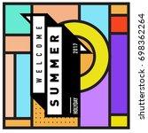 abstract geometric summer... | Shutterstock .eps vector #698362264