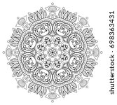 mandala isolated design element ... | Shutterstock .eps vector #698363431
