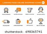 flat line design concept icons... | Shutterstock .eps vector #698365741