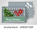 front and back christmas... | Shutterstock .eps vector #698367289