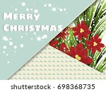 greetings card  style modern... | Shutterstock .eps vector #698368735