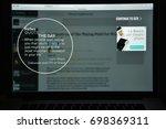 milan  italy   august 10  2017  ... | Shutterstock . vector #698369311