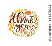 happy thanksgiving card design... | Shutterstock .eps vector #698375221