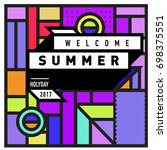 abstract geometric summer
