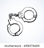 closed cop fetters manacle for... | Shutterstock .eps vector #698376604
