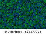 light blue vector polygonal...   Shutterstock .eps vector #698377735