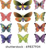 set of different multicolored... | Shutterstock .eps vector #69837934