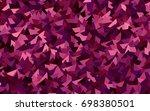 dark pink vector abstract...   Shutterstock .eps vector #698380501