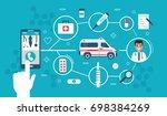 medical banner concept design... | Shutterstock . vector #698384269