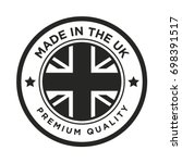 made in the uk badge | Shutterstock .eps vector #698391517