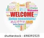Welcome Love Heart Word Cloud...