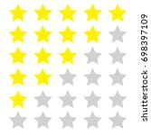 star rate icon  isolated vector | Shutterstock .eps vector #698397109