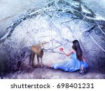 photo montage of young girl... | Shutterstock . vector #698401231