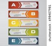 design clean number banners... | Shutterstock .eps vector #698407981