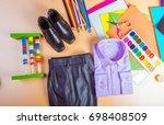 school clothes for boy ... | Shutterstock . vector #698408509