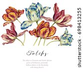 Watercolor Vintage Tulips....