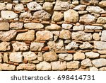 detail of old wall in athens ... | Shutterstock . vector #698414731