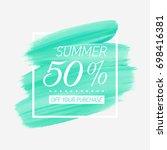 summer sale 50  off sign over... | Shutterstock .eps vector #698416381
