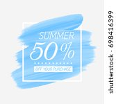 summer sale 50  off sign over... | Shutterstock .eps vector #698416399