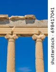 architectural detail of the... | Shutterstock . vector #698417041