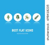 flat icon nature set of forest  ... | Shutterstock .eps vector #698418235