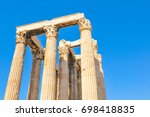 architectural detail of the... | Shutterstock . vector #698418835