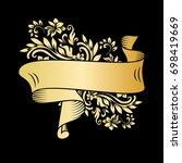 golden page decoration element. ... | Shutterstock .eps vector #698419669