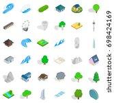 house element icons set.... | Shutterstock .eps vector #698424169