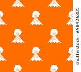 volcano erupting pattern repeat ... | Shutterstock .eps vector #698426305