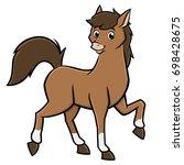 vector illustration of a cute...   Shutterstock .eps vector #698428675