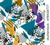 vector background in memphis... | Shutterstock .eps vector #698428777