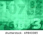 green medical background - stock photo