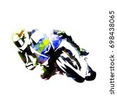 motorcycle rider  abstract... | Shutterstock .eps vector #698438065