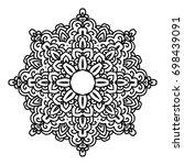 mandala. black and white... | Shutterstock .eps vector #698439091