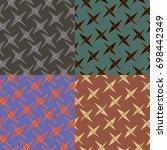 set of seamless vector patterns ... | Shutterstock .eps vector #698442349